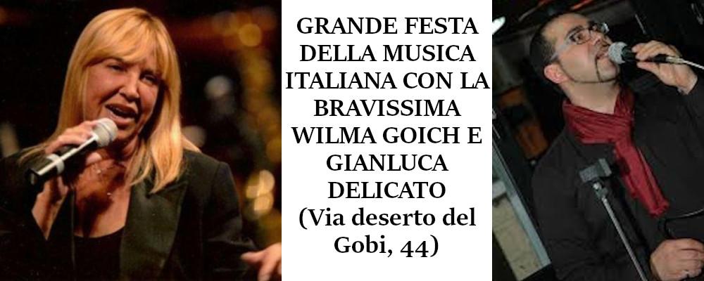 29 Febbraio h 20:30 - FESTA DELLA MUSICA ITALIANA CON WILMA GOICH